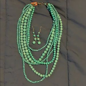 Jewelry - Turquoise color Necklace and earring set